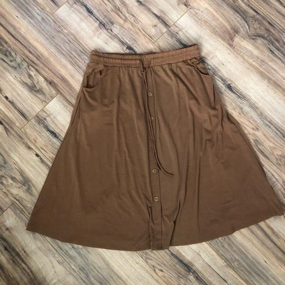 🔥 Lularoe Marsha MIDI Length Button Front Skirt